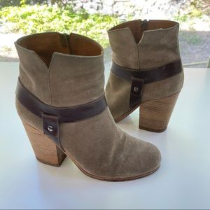 Coclico Suede Leather Strap Ankle Boot